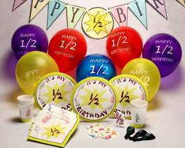 Half Birthday Party Supplies Order Here