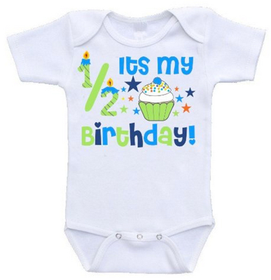 Half Birthday                   Onsie - Blue