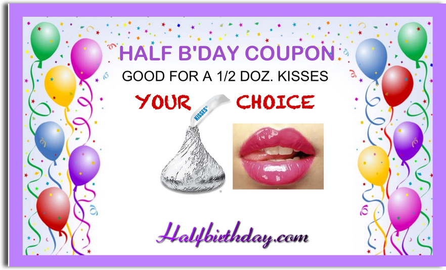 send half birthday ecards and party invitations free, Birthday card
