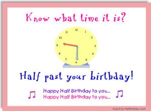 Half Past Birthday Ecard