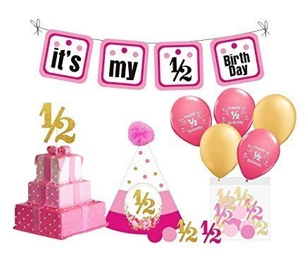 Order                         Girl's Half Birthday Party Kit