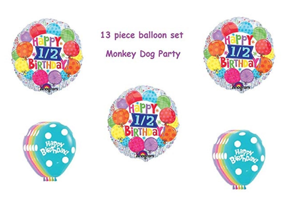 Half                           Birthday Balloon Kit